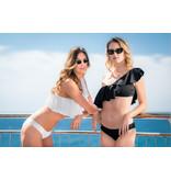 Pillert Swimwear Cuba Libre Ruffle Schwarz - Bikini 2tlg Set