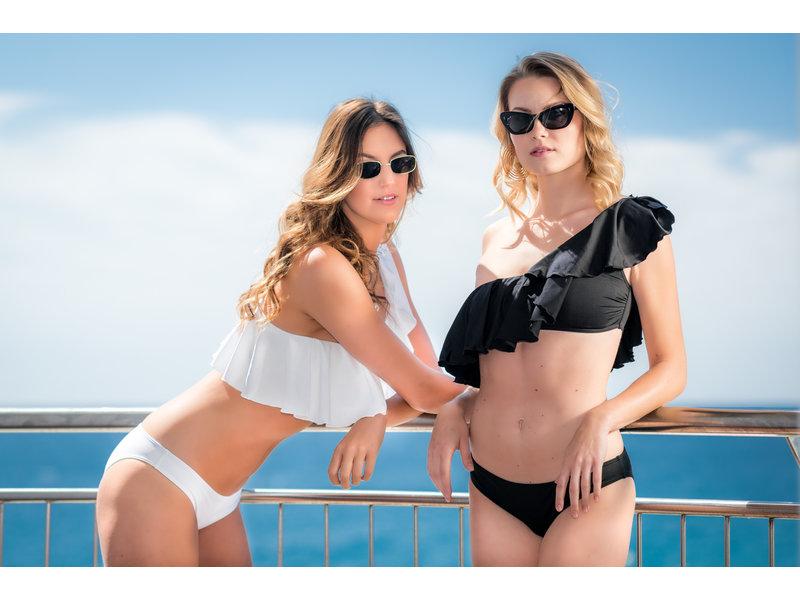 Pillert Swimwear Cuba Libre Ruffle Black - Bikini 2pcs Set