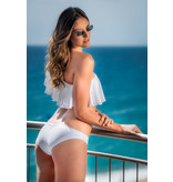 Pillert Swimwear Cuba Libre Ruffle Weiss - Bikini 2tlg Set