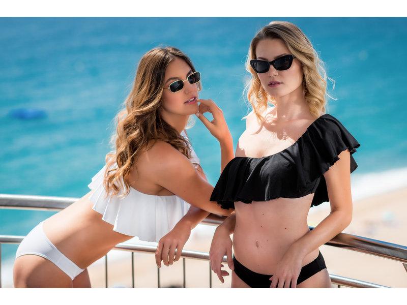 Pillert Swimwear Cuba Libre Ruffle Dunkelblau - Bikini 2tlg Set