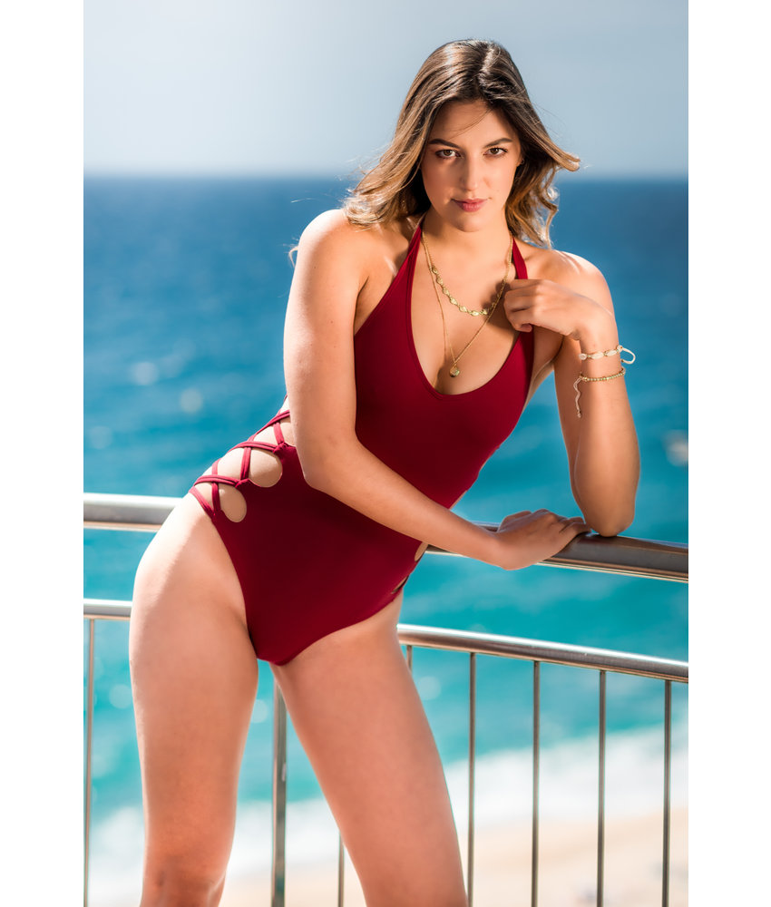 Miranda Swimsuit Red Wine