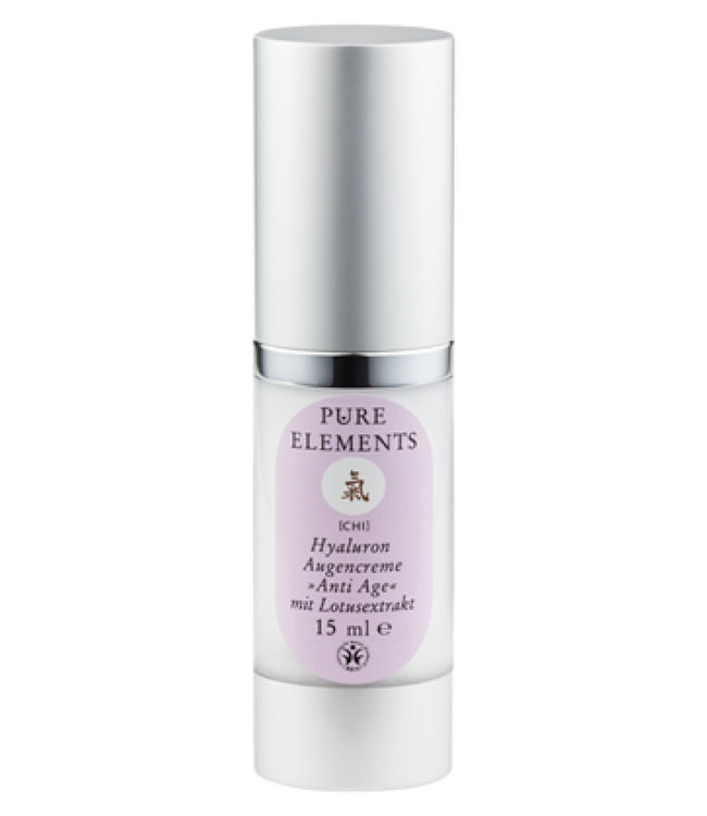 Pure Elements Chi Hyaluron eye cream Anti Aging with lotus extract