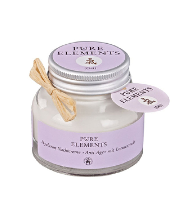 Pure Elements Hyaluron night cream anti-aging with lotus extract