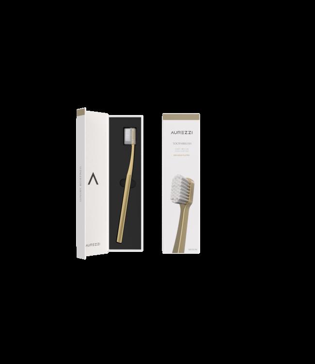 Aurezzi 24K Gold Zahnbürste Weiß
