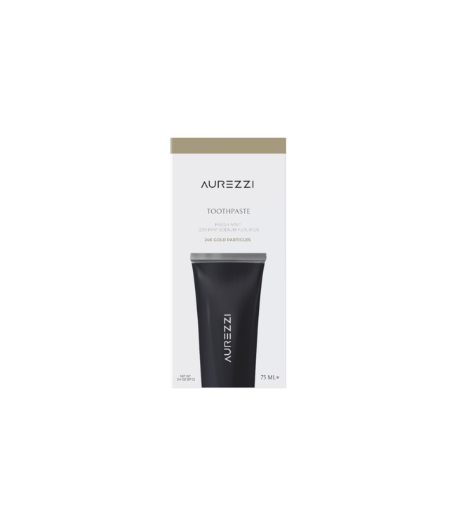Aurezzi 24K Gold Toothpaste  Black