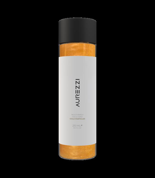 Aurezzi 24K Gold Mundwasser Weiß