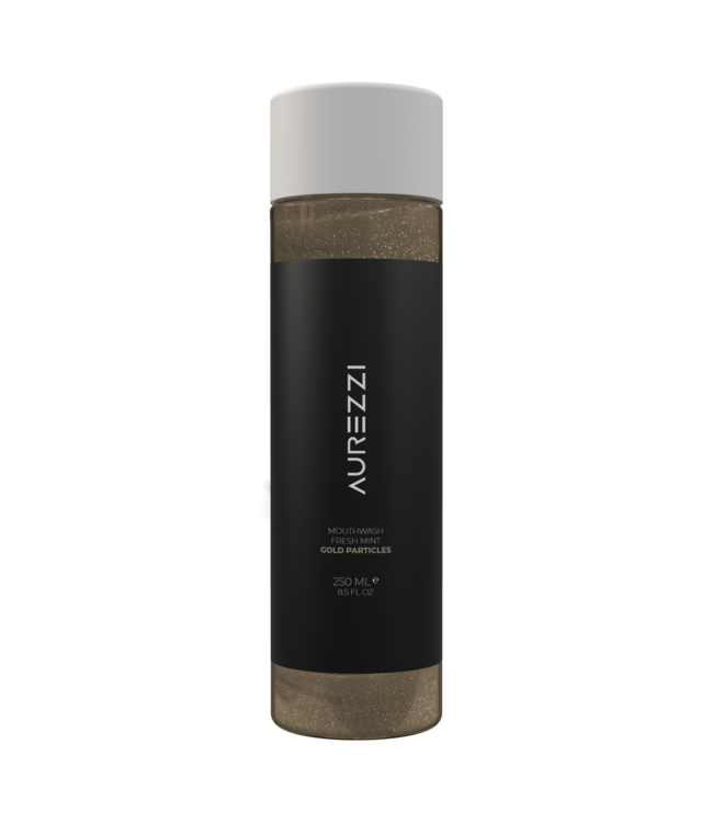 Aurezzi 24K Gold Mundwasser Schwarz