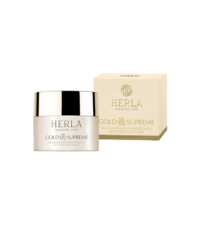Herla 24K Gold Rejuvenating Face Mask With Pure Gold Flakes