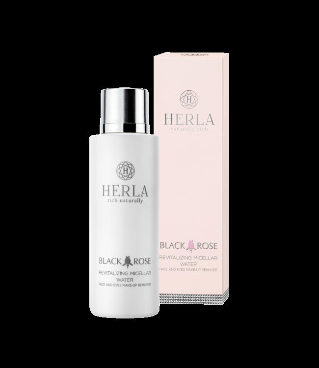 Herla BLACK ROSE Revitalizing Micellar Water Face And Eyes Make Up Remover