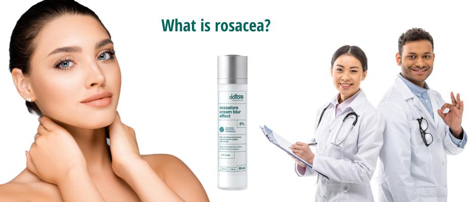 Rosacea facial skin redness