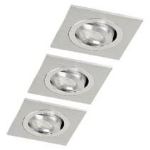 LED Inbouwspot 3 W 2700 K Rectangular Geborsteld Aluminium