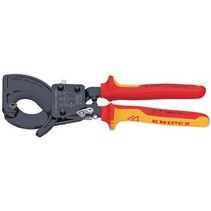 Cable cutters with ratchet principle