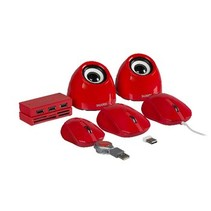 Speaker 2.0 USB 3.5 mm 6 W Rood