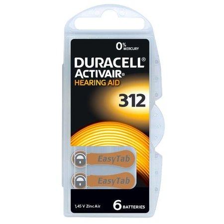 Duracell Duracell gehoor Type 312 Bruin 6 stuks