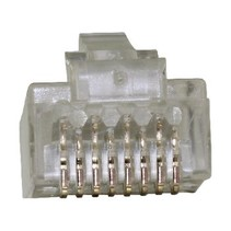 Connector RJ45 Solid UTP CAT6 Male PVC Transparant