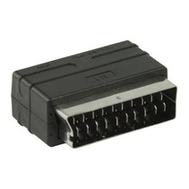 SCART-Adapter SCART Male - 3x RCA Female Zwart