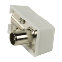 Coaxconnector Male PVC Wit