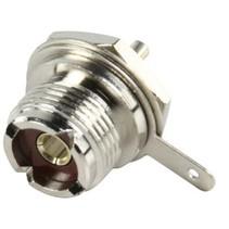 Connector UHF Female Metaal Zilver
