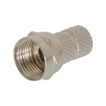 F-Connector 5.5 mm Male Zilver