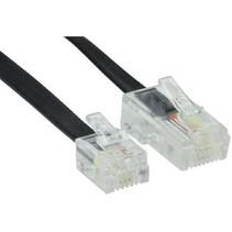Telecomkabel RJ12 (6P6C) Male - RJ45 (8P6C) Male 2.00 m Zwart