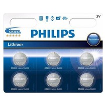 CR2032 Lithium knoopcel Philips 6 stuks