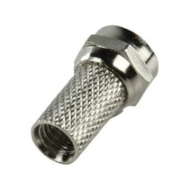 F-Connector 4.6 mm Male Zilver