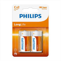 Philips C Long Life LR14 - 2 Stuks