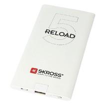 Draagbare Powerbank 5000 mAh USB Wit