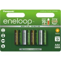 AAA oplaadbare batterijen 750 mAh 8 stuks Eneloop Botanic
