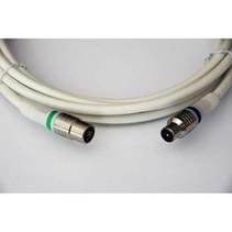 Coaxkabel IEC / Coax IEC Male - IEC Female Recht 1.5 m Wit