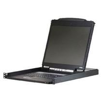 """1-Poorts KVM Schakelaar LCD 19"""" Console Zwart"""