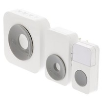 Plug-in Draadloze Deurbel Set 220V 90 dB Wit/Grijs
