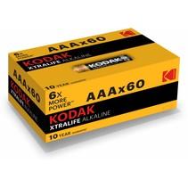 AAA mini-Penlite  XtraLife 60 stuks batterijen Kodak