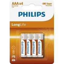 Philips AAA Mini Penlite Long Life - 4 Stuks
