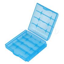 Batterij bewaar doosje  blauw 4 stuks