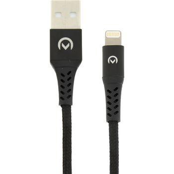 Mobilize Data en Oplaadkabel Apple Lightning - USB A Male 2 m Zwart