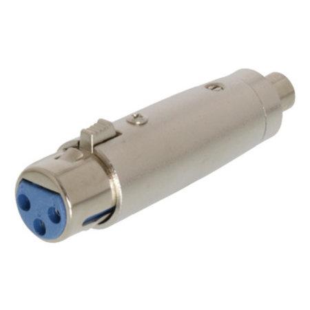 Valueline XLR-Adapter XLR 3-Pins Female - RCA Female Zilver