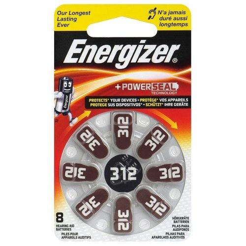 Energizer 312 bruin 8x hoortoestel batterijen Energizer