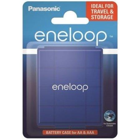 Eneloop Batterij bewaar doosje  blauw 4 stuks - Eneloop