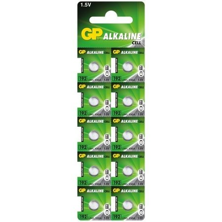 GP 10 x GP - LR41 / AG3 knoopcel batterijen
