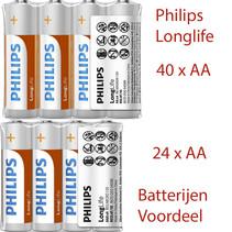 40xAA + 24xAAA Philips Longlife