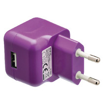 Lader 1-Uitgang 2.1 A 2.1 A USB Paars