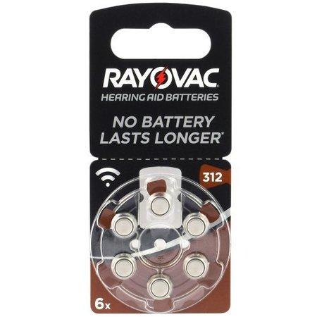 Rayovac 312 Bruin pr41 Acoustic Special Rayovac - 6 stuks
