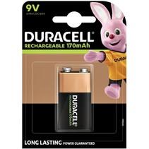 9V Oplaadbare Batterijen 170mAh Duracell