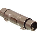 Valueline XLR-Adapter XLR 3-Pins Female - XLR 3-Pins Female Zilver