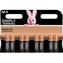 8 x AA penlite alkaline Simply