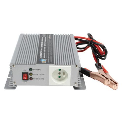 HQ Inverter Gemodificeerde Sinusgolf 12 VDC - AC 230 V 600 W Frans
