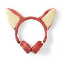 Bedrade Koptelefoon | 1,2 m Ronde Kabel | On-Ear | Afneembare Magnetische Oren | Franky Fox | Oranje