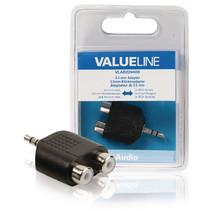 Stereo-Audio-Adapter 3.5 mm Male - 2x RCA Female Zwart