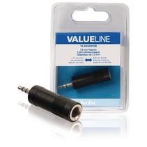 Stereo-Audio-Adapter 3.5 mm Male - 6.35 mm Female Zwart